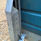 Repaired damaged rear light bracket on this Ifor Williams horse trailer